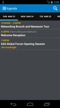 SAS® Global Forum Exec. Conf. screenshot 2