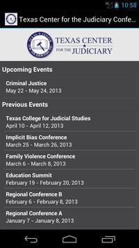 Texas Center for the Judiciary poster