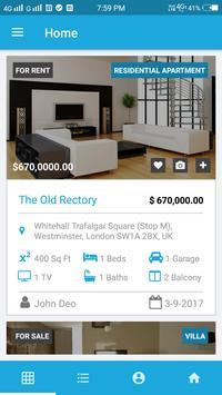 Real Estate App Template screenshot 1