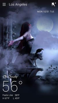 Gothic Halloween GO Weather Dynamic Backgrounds screenshot 1