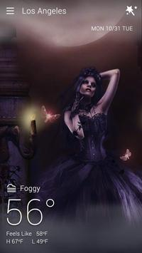 Gothic Halloween GO Weather Dynamic Backgrounds screenshot 2