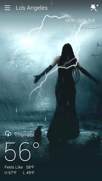 Gothic Halloween GO Weather Dynamic Backgrounds screenshot 7
