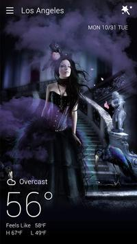 Gothic Halloween GO Weather Dynamic Backgrounds screenshot 4