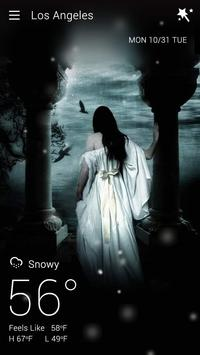 Gothic Halloween GO Weather Dynamic Backgrounds screenshot 5