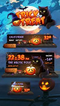 Trick or Treat GO Weather Widget Theme poster