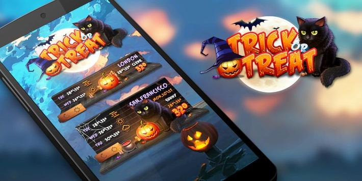 Trick or Treat GO Weather Widget Theme screenshot 2
