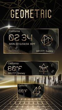 Geometric Weather Widget Theme poster