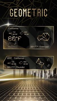 Geometric Weather Widget Theme apk screenshot