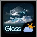 Glass GO Weather Widget Theme