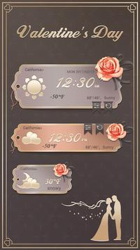 Valentine's Day GO Weather Widget Theme poster