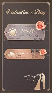 Valentine's Day GO Weather Widget Theme screenshot 1