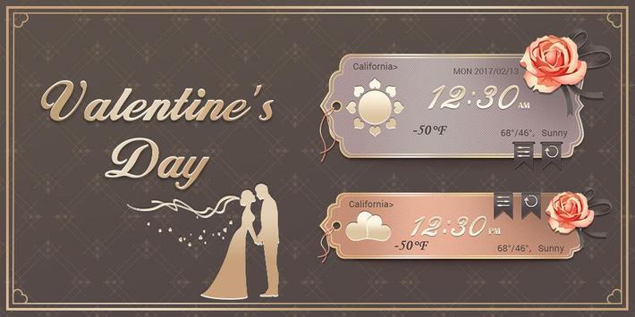 Valentine's Day GO Weather Widget Theme screenshot 2