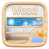 Wood GO Weather Widget Theme icon