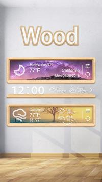 Wood GO Weather Widget Theme apk screenshot