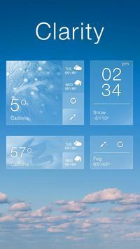 Clarity GO Weather Widget Theme screenshot 3