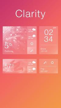 Clarity GO Weather Widget Theme screenshot 1