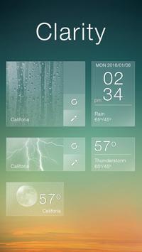 Clarity GO Weather Widget Theme screenshot 2
