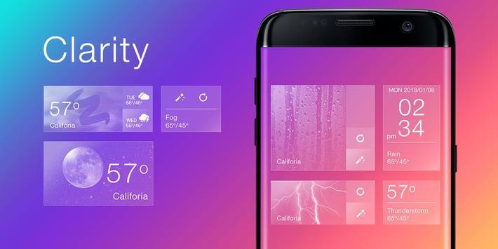 Clarity GO Weather Widget Theme screenshot 4