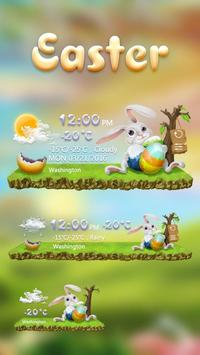 Easter GO Weather Widget Theme poster