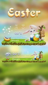 Easter GO Weather Widget Theme apk screenshot