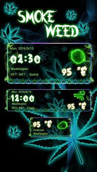 Smoke Weed GO Weather Widget apk screenshot