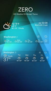 ZERO THEME GO WEATHER apk screenshot