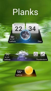 Planks GO Weather Widget Theme poster