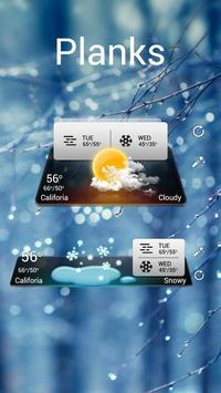 Planks GO Weather Widget Theme screenshot 1