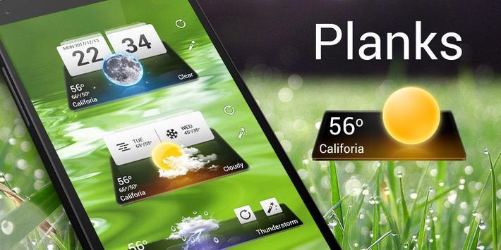 Planks GO Weather Widget Theme screenshot 2