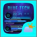 Bule Tech Weather Widget Theme