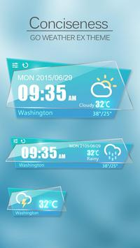 Conciseness GO Weather Widget poster