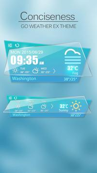 Conciseness GO Weather Widget apk screenshot