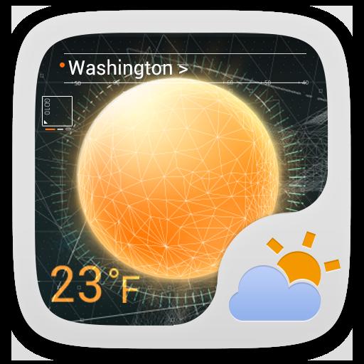 Futuristic Theme GO Weather EX