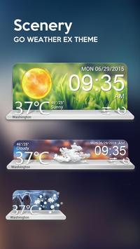 Scenery Weather Widget Theme poster