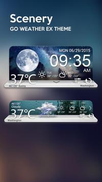 Scenery Weather Widget Theme screenshot 1