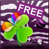 Violet Zebra for GO Launcher icon