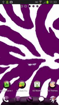 Violet Zebra for GO Launcher apk screenshot