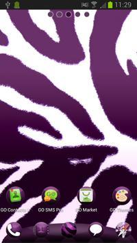 Violet Zebra for GO Launcher poster