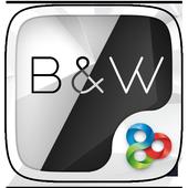 Black & White Launcher Theme icon