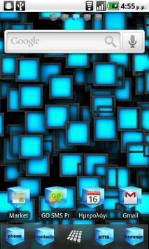 Blue Cube Theme GO Launcher EX poster