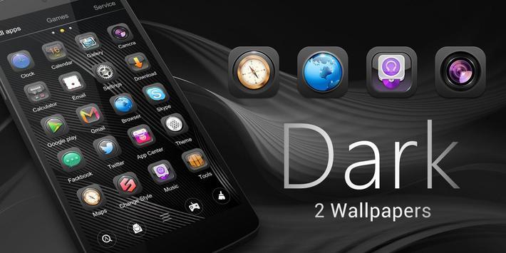 Dark GO Launcher Theme Apk Screenshot