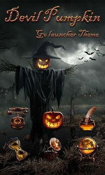 Devil Pumpkin GOLauncher Theme poster