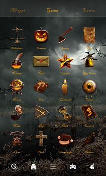 Devil Pumpkin GOLauncher Theme apk screenshot