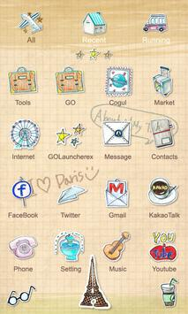 Parisien - GO Launcher Theme apk screenshot