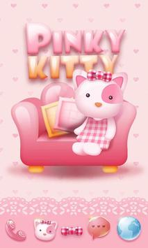 Pinky Kitty Go Launcher Theme poster