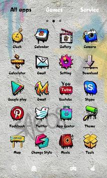 Rock Graffiti GOLauncher Theme apk screenshot