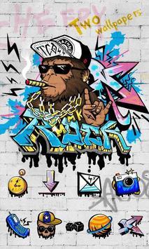 Rock Graffiti GOLauncher Theme poster