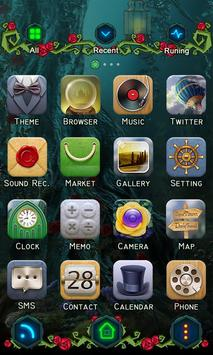 Wonderland GO Launcher Theme apk screenshot