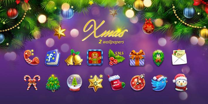 (FREE) X'mas GO Launcher Theme screenshot 6