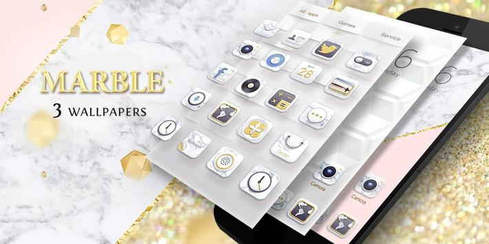 Marble GO Launcher Theme apk screenshot